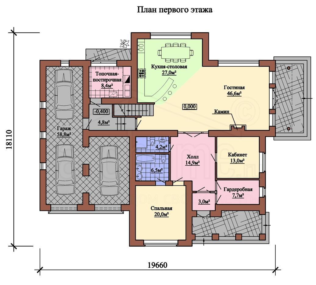 Планы этажей проекта КОРВЕТ 1
