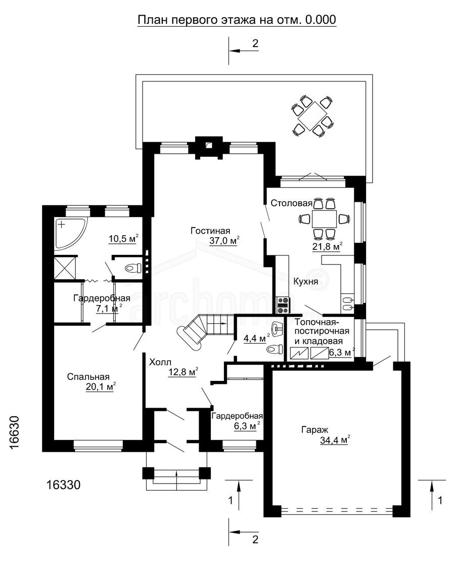 Планы этажей проекта КЛЕН 1