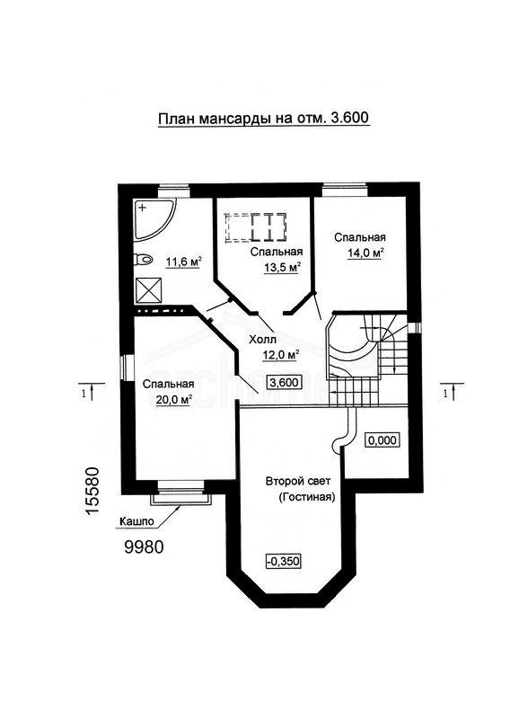 Планы этажей проекта САША-2 2
