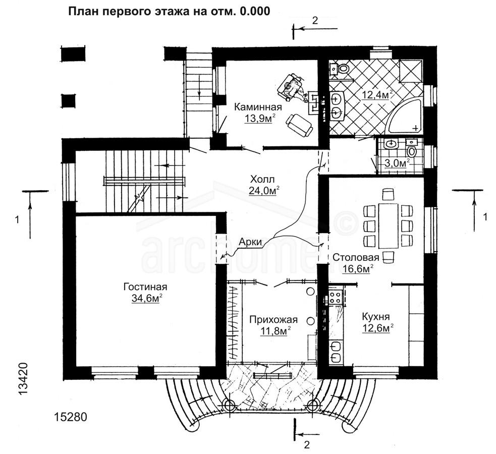 Планы этажей проекта БУРБОН-1 1