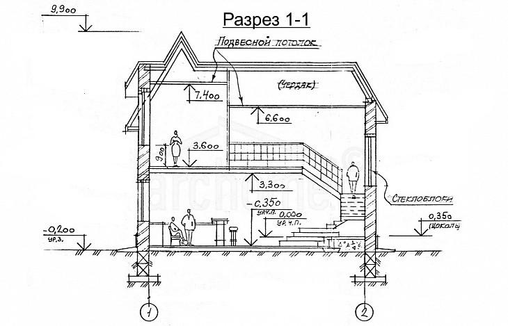 Планы этажей проекта САША 3