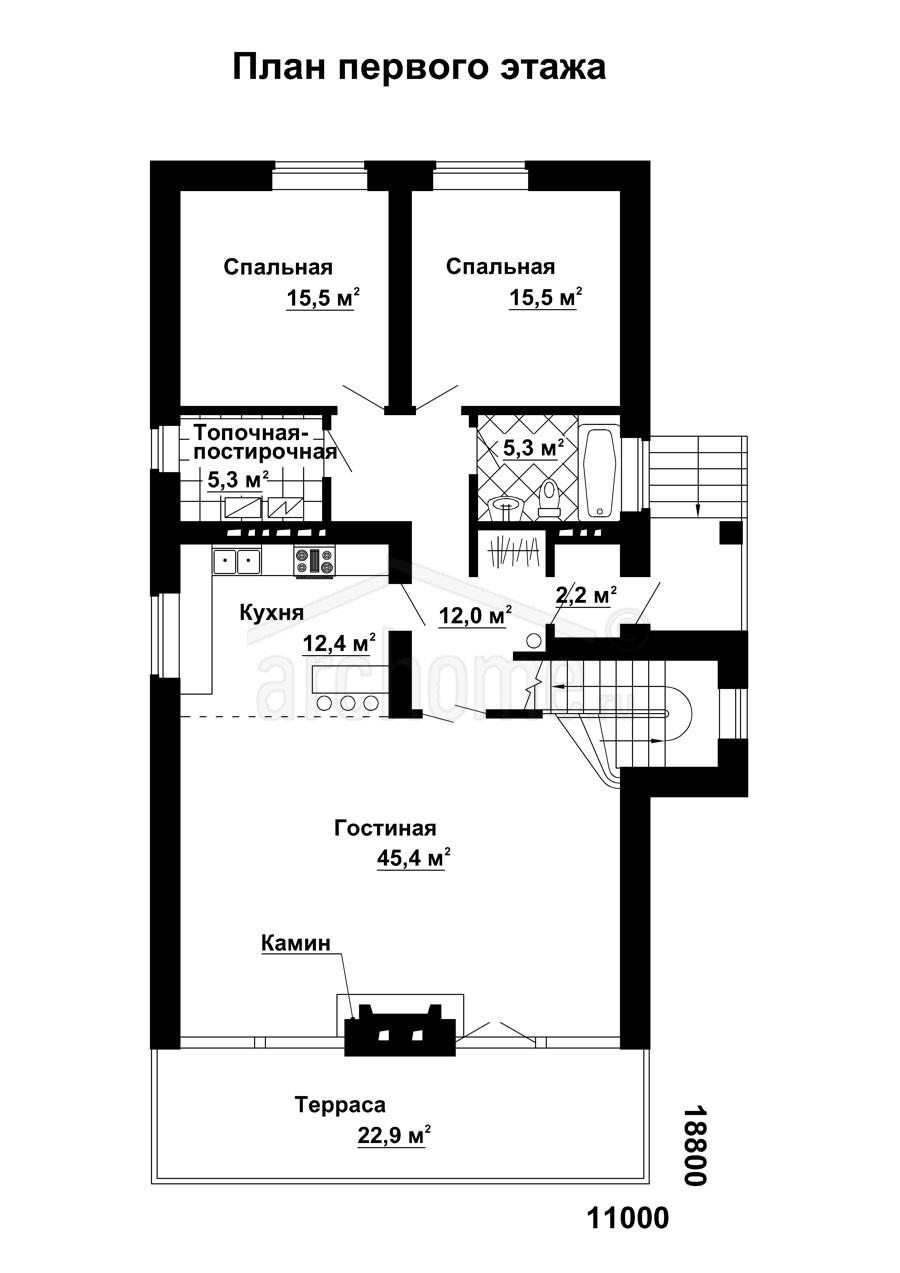 Планы этажей проекта КАСПЕР 1