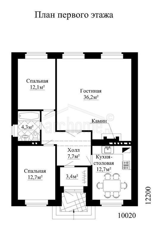 Планы этажей проекта ФИАЛКА 1