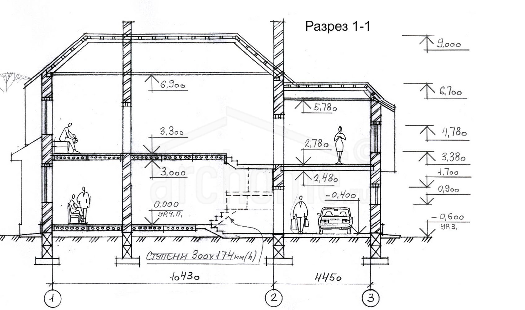 Планы этажей проекта РОМАШКА 3