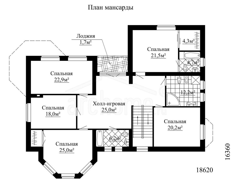 Планы этажей проекта ПЬЕРО 2