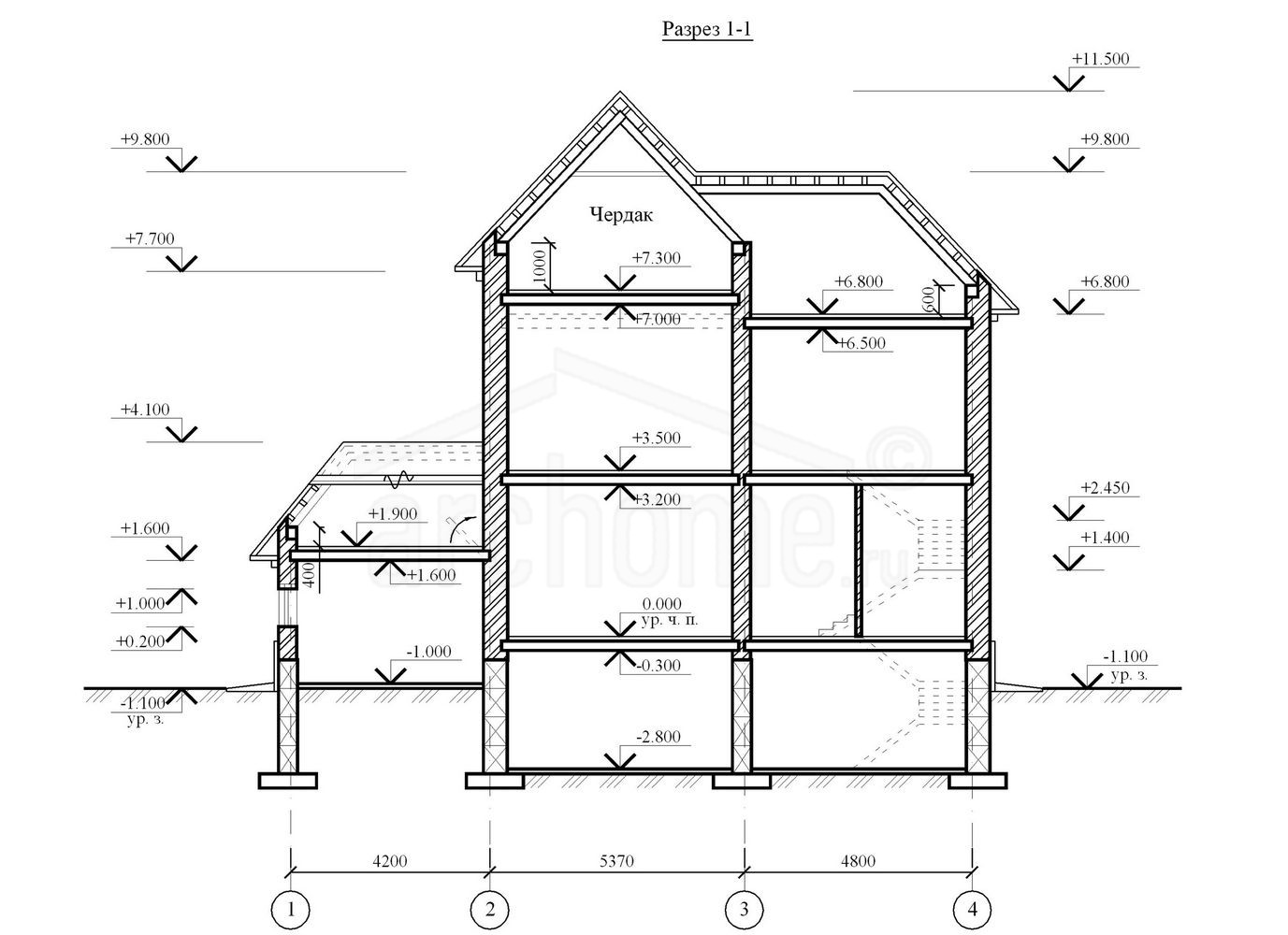 Планы этажей проекта АРТЕМИДА 4