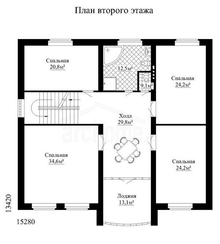 Планы этажей проекта БУРБОН 2