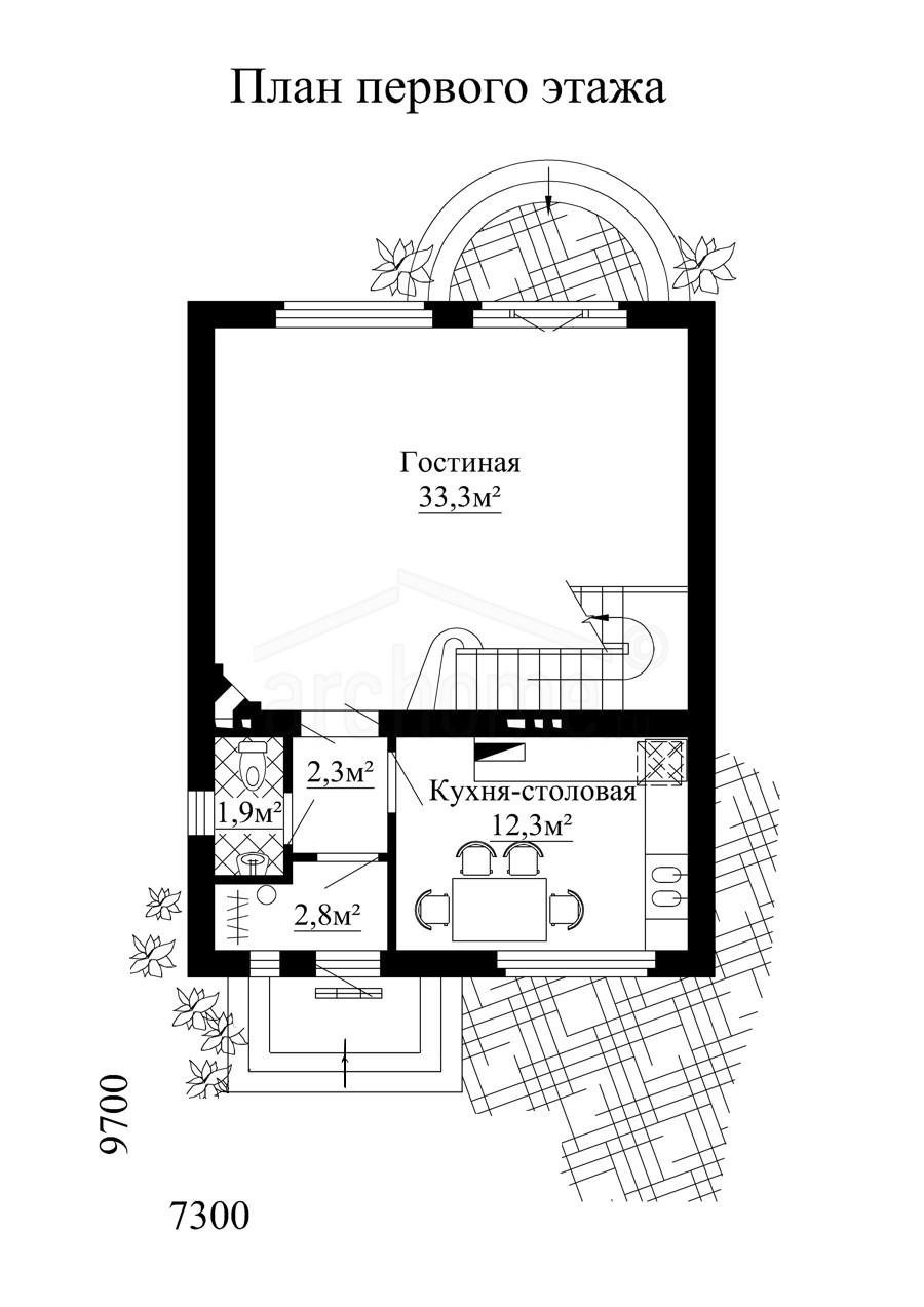 Планы этажей проекта КЛУБНИЧКА 1