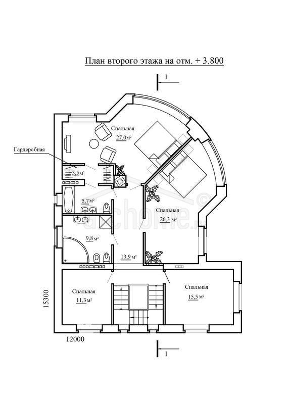 Планы этажей проекта ЧАРДАШ 3