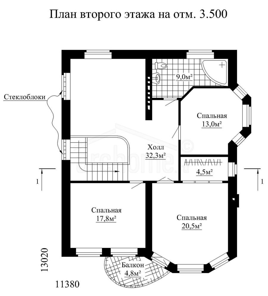 Планы этажей проекта ГЕНРИХ 2