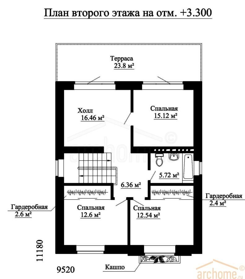 Планы этажей проекта ИРЭН 2