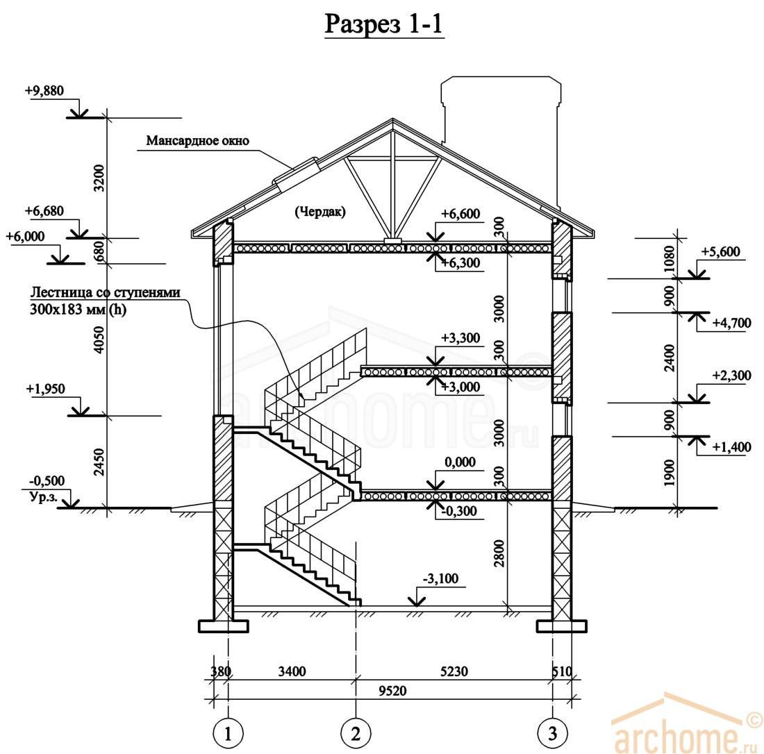 Планы этажей проекта ИРЭН-1 4