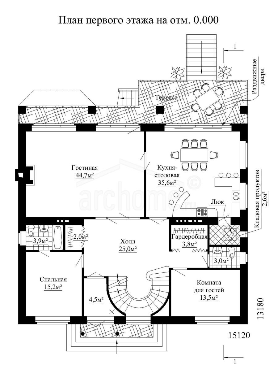 Планы этажей проекта ОЛИВЕР 1