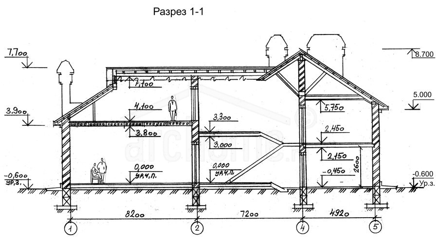 Планы этажей проекта БРЮС 3