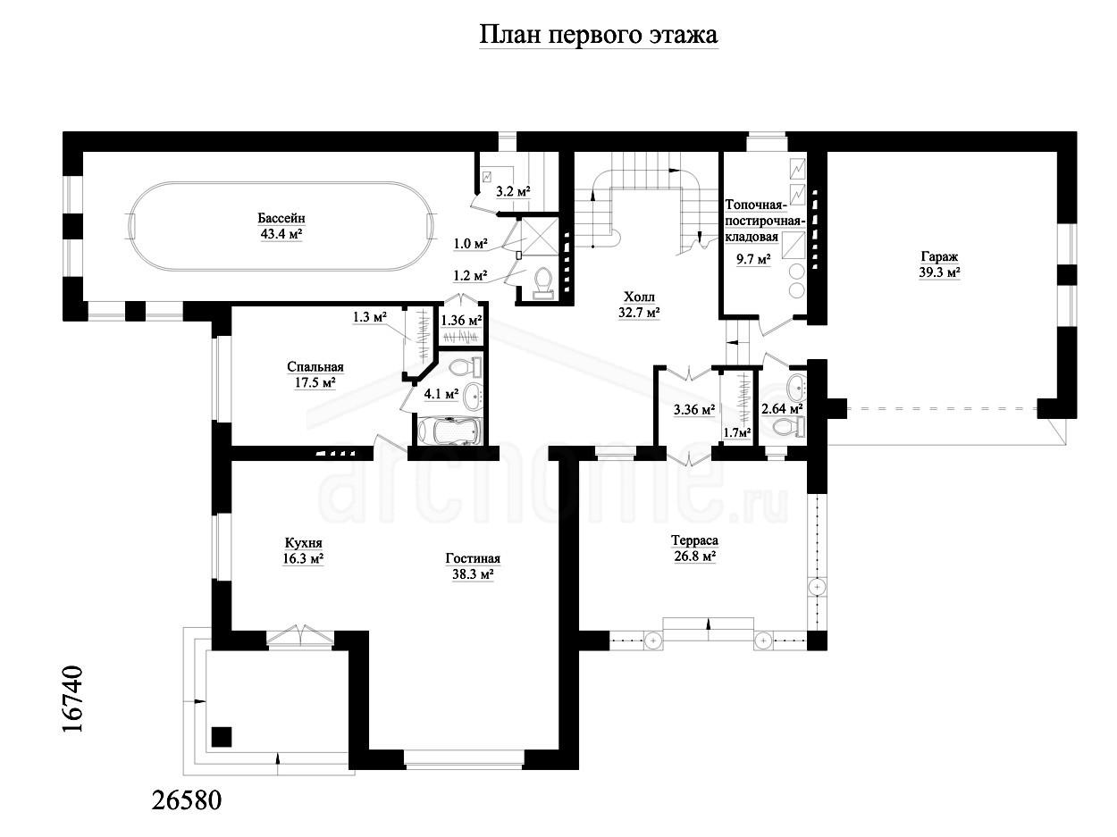 Планы этажей проекта ТЕОДОР 1