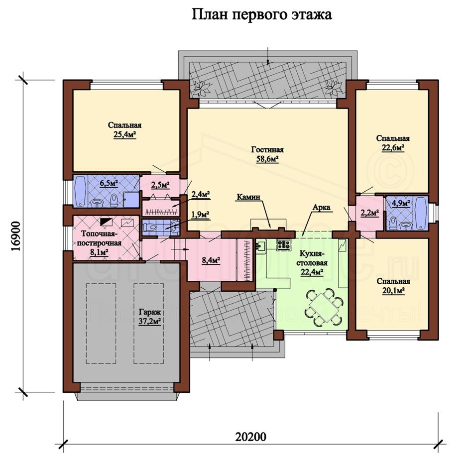 Планы этажей проекта ОСКАР 1