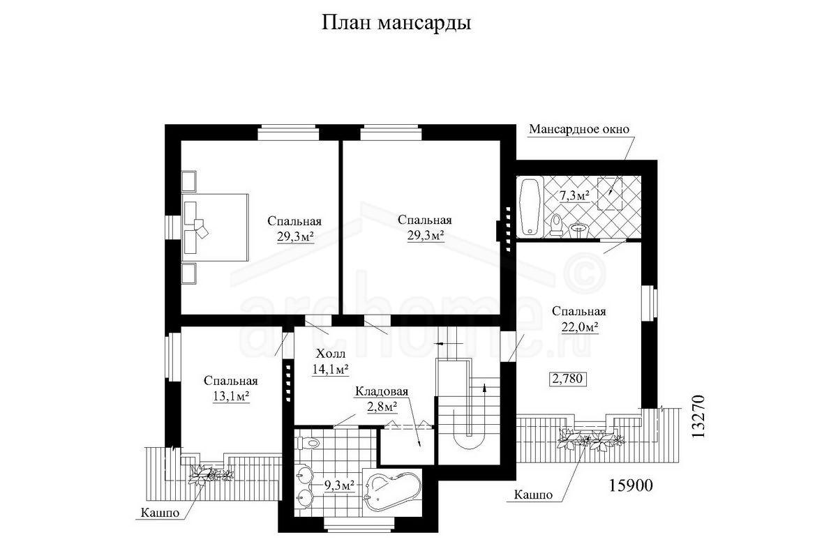 Планы этажей проекта РОМАШКА 2