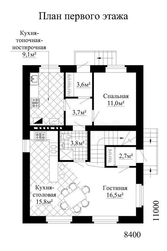 Планы этажей проекта ОХОТНИК-1а 1