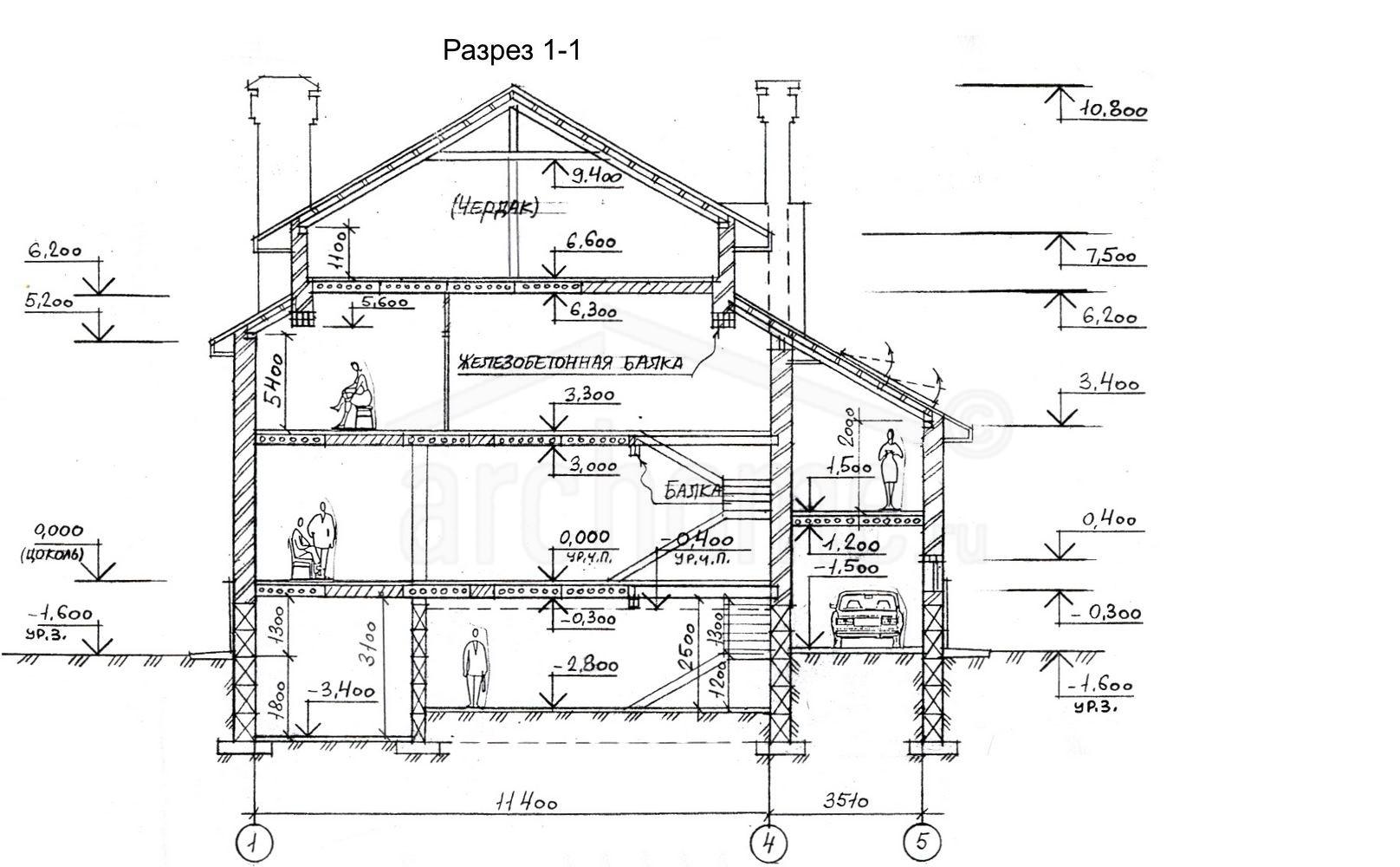 Планы этажей проекта ОБЛОМОВ 4