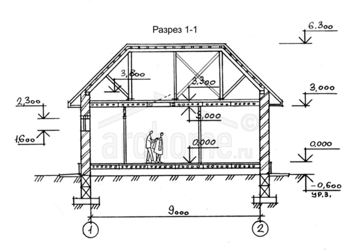 Планы этажей проекта ФИАЛКА 2