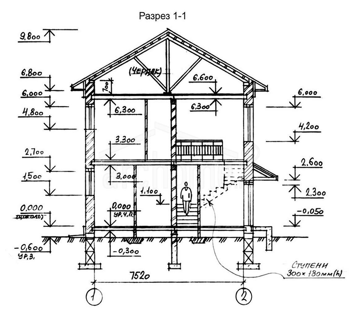 Планы этажей проекта ОХОТНИК-1а 3
