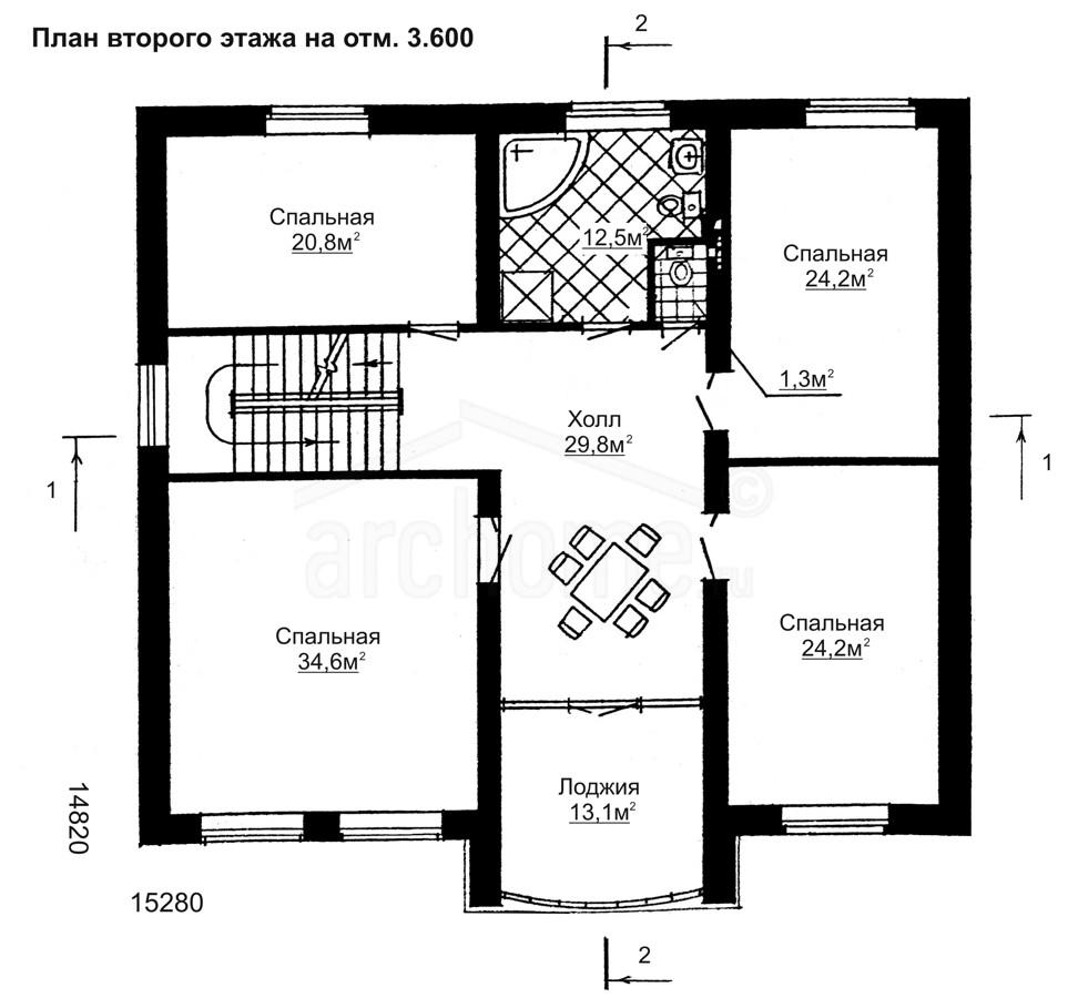 Планы этажей проекта БУРБОН-1 2
