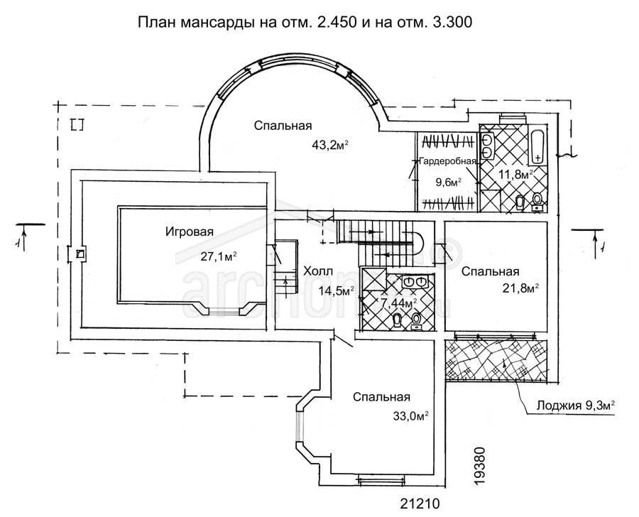 Планы этажей проекта БРЮС - 1 2